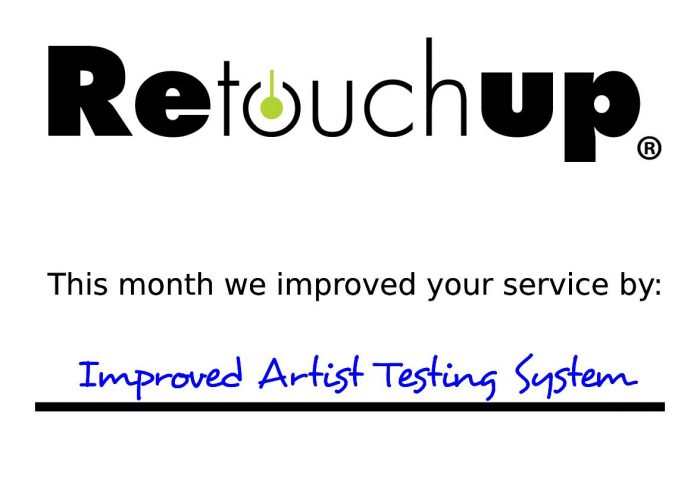 RetouchUp - This month we improved your service by